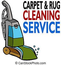 pulizia, servizio, moquette