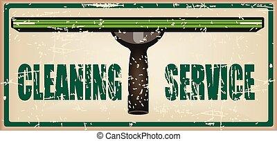 pulizia, servizio