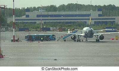 Pulkovo Airport in St. Petersburg. 4K.