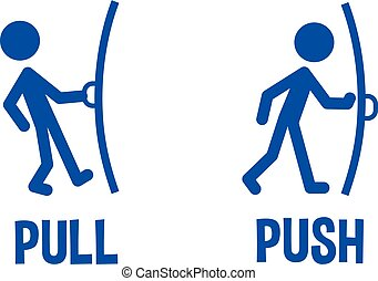 Pull or Push door signs