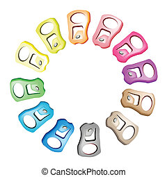Pull Ring with Recycle Theme for Save The Green World - An...