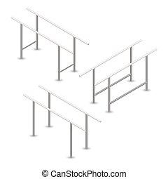 Pull-up bar in 3D, vector illustration.