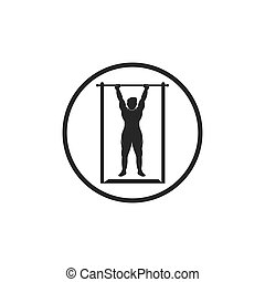 pull up exercise vector icon illustration design template