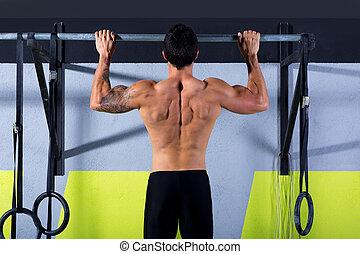 pull-ups, bommar för, tån, hinder, lämplig, genomkörare, ...