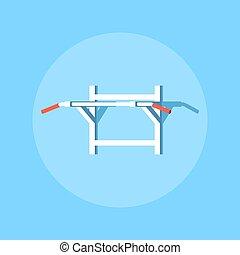 Pull-ups horisontal bar. - Picture of a horisontal bar for ...