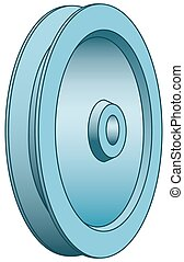 Illustration of the pulley icon