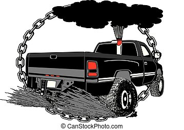pulling truck for canstock [Converted].eps - Dually Diesel...