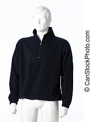 Pullover - Blue pullover isolated on a white background