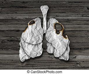 pulmón humano, cáncer, concepto