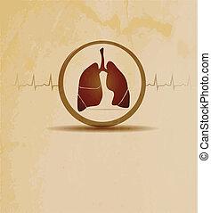 pulmões, e, cardiograma