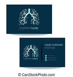 Pulmonary clinic business card - Medical business card ...