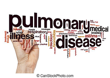 Pulmonary disease word cloud concept