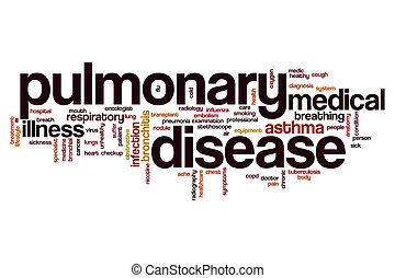 Pulmonary disease word cloud concept