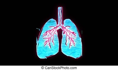 """Pulmonary Edema in holographic digital lung, It is a symbol of suffocation which is very dangerous"""