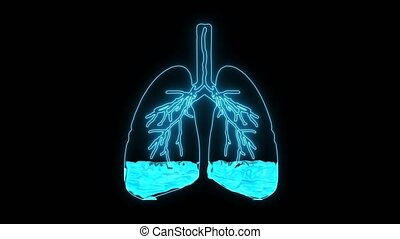 Pulmonary Edema  is a condition caused by abnormal fluid in the alveoli. Resulting in patients with difficulty breathing or lack of breath due to lack of oxygen