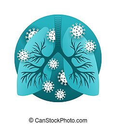 pulmones, virus, infected, sars, humano, -