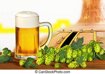 pulos, vidro, cerveja, cervejaria