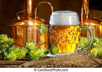 pulos, vidro, cerveja, cevada, cervejaria