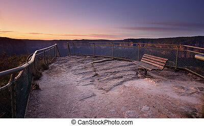 Pulpit Rock south views Blue Mountains Australia
