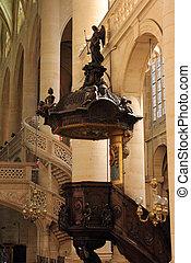 Pulpit, Saint Etienne du Mont Church, Paris.