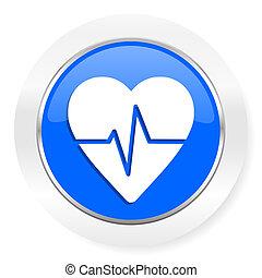 puls, blaues, glänzend, web, ikone