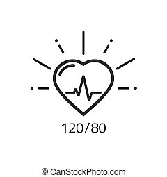 puls, vektor, kardiogramm, gesundheit, herz, ikone, blut, ...