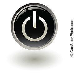 pulsante avvio, nero, potere, /