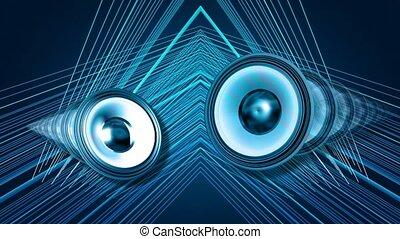 Pulsating blue circles