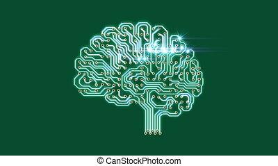 Pulsating electronic brain