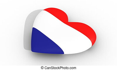 Pulsating heart in the colors of Croatia flag, on a white...