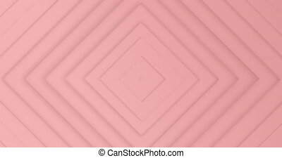 Animation of multiple pink diamonds pulsating in hypnotic motion in seamless loop in the background. Colour and movement concept digitally generated image.