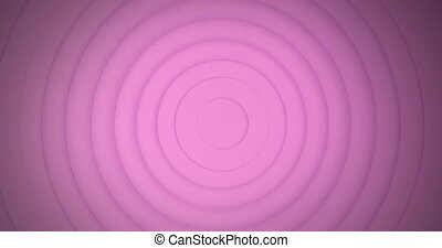 Animation of multiple circles pulsating in hypnotic motion in seamless loop in the background. Colour and movement concept digitally generated image.