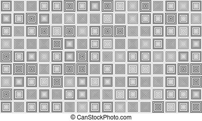 Pulsating square boxes pattern, abstract loopable motion...