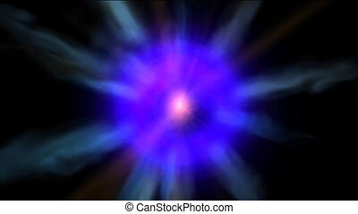 Pulsating star - Pulsating seamless loop
