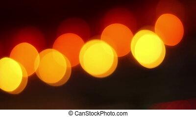 Pulsating Warm Lights Bokeh - Blinking yellow and orange...