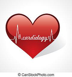 pulsation, faire, mot, cardiologie