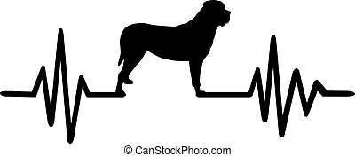 pulsation, silhouette, mastiff