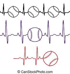 Pulse baseball set different colors