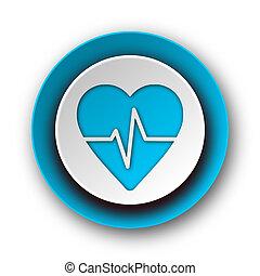 pulse blue modern web icon on white background