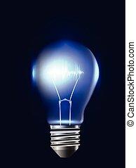 pulse., ilustração, elemento, realístico, vetorial, desenho, bulbo, seu