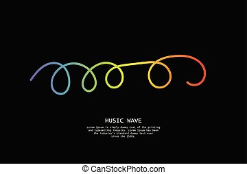 Pulse music player. Audio colorful wave logo