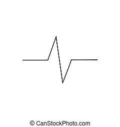 Pulse outline icon isolated. Symbol, logo illustration for mobile concept and web design.