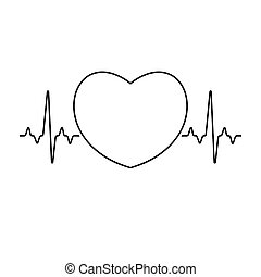 Pulse rate with heart sign inside