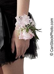 pulseira, flores