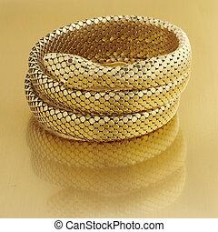 pulseira, ouro