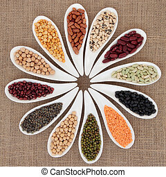 Pulses Selection - Pulses vegetable selection of peas, beans...