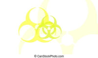 Pulsing Biohazard Symbol - Animation of a yellow biohazard...