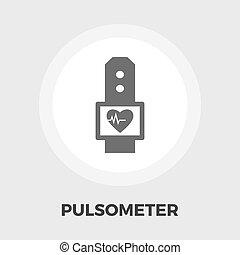 pulsometer, ikon, lakás