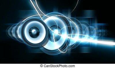 pulsowanie, mówiące, dźwiękowy