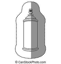 pulvérisateurs, aérosol, contour, icône
